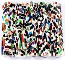 Color Explosion Mosaic Pen Blanks - White.