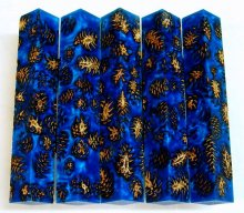 Mini Pine Cone Pen Blanks - Cobalt Blue