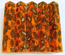 Mini Pine Cone Pen Blanks - Orange