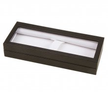 Black Leatherette Window Pen Box