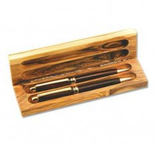 Olivewood Pen Box - Two Pen