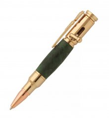 Mini Bolt Action Pen Kit (30 Cal) - 24KT Gold