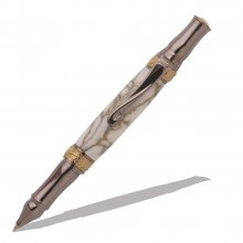 Nouveau Sceptre 24kt Gold and Gun Metal Ballpoint Twist Pen Kit