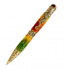 Dragon Twist Pen Kit - Antique Brass (PSI)