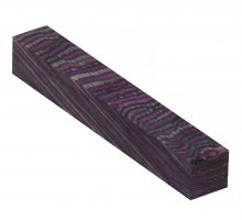 Color Grain Pen Blank - Tahoe Purple Jumbo (3/4 in. x 5 in.)