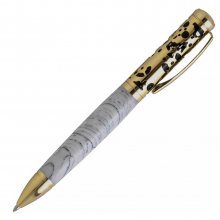Filigree Ballpoint Twist Pen Kit - Gold Over Black Enamel