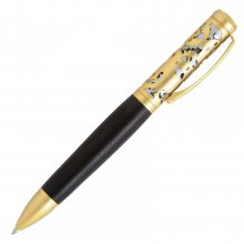 Filigree Ballpoint Twist Pen Kit - Satin Gold Over Satin Chrome
