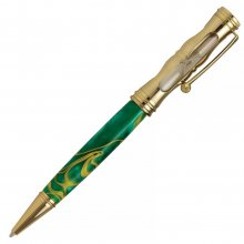 Hourglass Twist Pen Kit - 24kt Gold