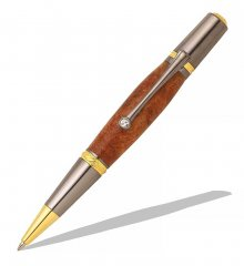 Majestic Squire Twist Pen Kit - Premium 22KT Gold (2 Micron) & Black TN
