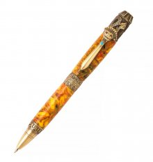 Mayan Ballpoint Twist Pen Kit - Antique Brass
