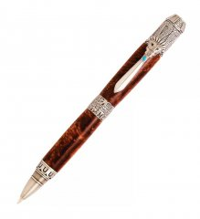 Mayan Ballpoint Twist Pen Kit - Antique Pewter