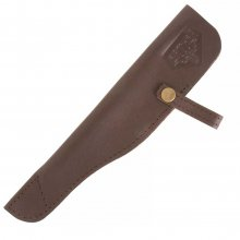 Genuine Brown Leather Rifle Pen Pouch - Pack of 3
