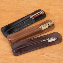 Leather Pen Pouches - Pack of 9
