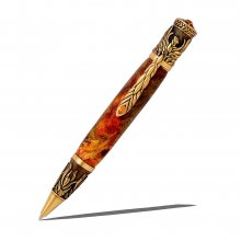 Phoenix Rising Ballpoint Pen Kit - Antique Brass