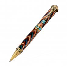 Southwest Pen Kit - Antique Brass With Turquoise Stone