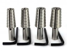 Professional Ring Mandrel 4 Pc Set - Full & Half Sizes 4-14