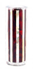 Paua Abalone Shell Pen Blank - Ruby & MOP Striped - Sierra #2805