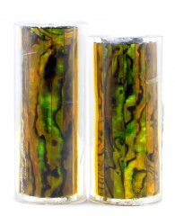 Paua Abalone Shell Pen Blank - Gold Jr. Series #1358