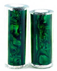 Paua Abalone Shell Pen Blank - Jr. II Series - Emerald #2675