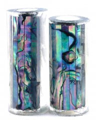 Paua Abalone Shell Pen Blank - Mexican Green Heart - Jr II Series #2709