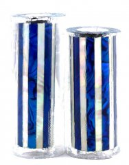 Paua Abalone Shell Pen Blank - Blue & MOP Striped - Jr II Series #2738