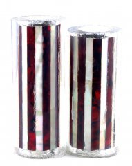 Paua Abalone Shell Pen Blank - Red & MOP Striped - Jr II Series #2740