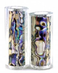 Paua Abalone Shell Pen Blank - White Paua - Jr II Series #2695