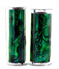 Paua Abalone Shell Pen Blank - Emerald - Jr II Series #2905