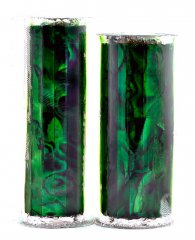 Paua Abalone Shell Pen Blank - Emerald - Jr II Series #2911