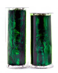 Paua Abalone Shell Pen Blank - Emerald - Jr II Series #2910