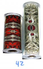 Red Snake Cardistry Pen Blank - Vertex Supreme Pen Kit #42