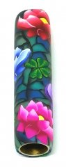Melanie's Polymer Clay Pen Blank - Water Lilies