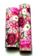 Melanie's Polymer Clay Pen Blank - Pink Floral.