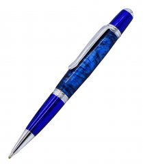 Prism Ballpoint Pen Kit - Blue & Chrome