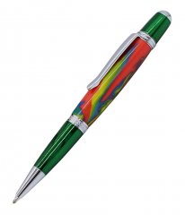Prism Ballpoint Pen Kit - Green & Chrome