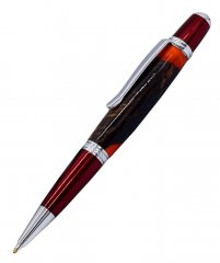 Prism Ballpoint Pen Kit - Red & Chrome