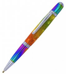 Prism Ballpoint Pen Kit - Ti Prism & Chrome