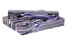 Purple Ripple Faux-Stone Pen Blanks