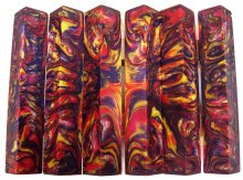 Lava Explosion Pen Blanks #119 - Purple Poppy