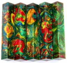 Lava Quad Pen Blanks #04 - Bayou Sunset