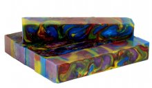 Rainbow Alumilite Resin Blank