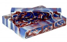 Red White & Blue Alumilite Swirl