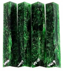 Raffir NTangle Pen Blanks - Green #4416-4419