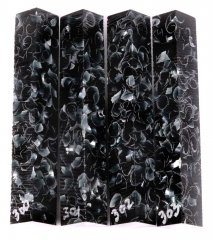 Sparkle Pen Blanks - Black Sparkle #300-303P
