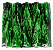 Raffir Pen Blanks - Green Stripes #100-104