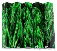 Raffir Pen Blanks - Green Stripes #110-114