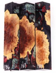 Red Mallee Burl Hybrid Pen Blanks #186-188RR