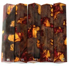 Redwood Burl Hybrid Pen Blanks #01-05FF - Stabilized