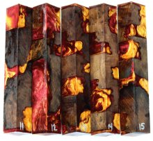 Redwood Burl Hybrid Pen Blanks #11-15FF - Stabilized