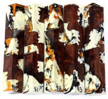 Redwood Burl Hybrid Pen Blanks #80-84EE - Stabilized